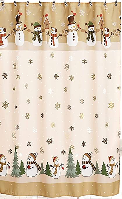 Image Unavailable Not Available For Color Winter Wonderland Heartland Snowman Shower Curtain Hook Set