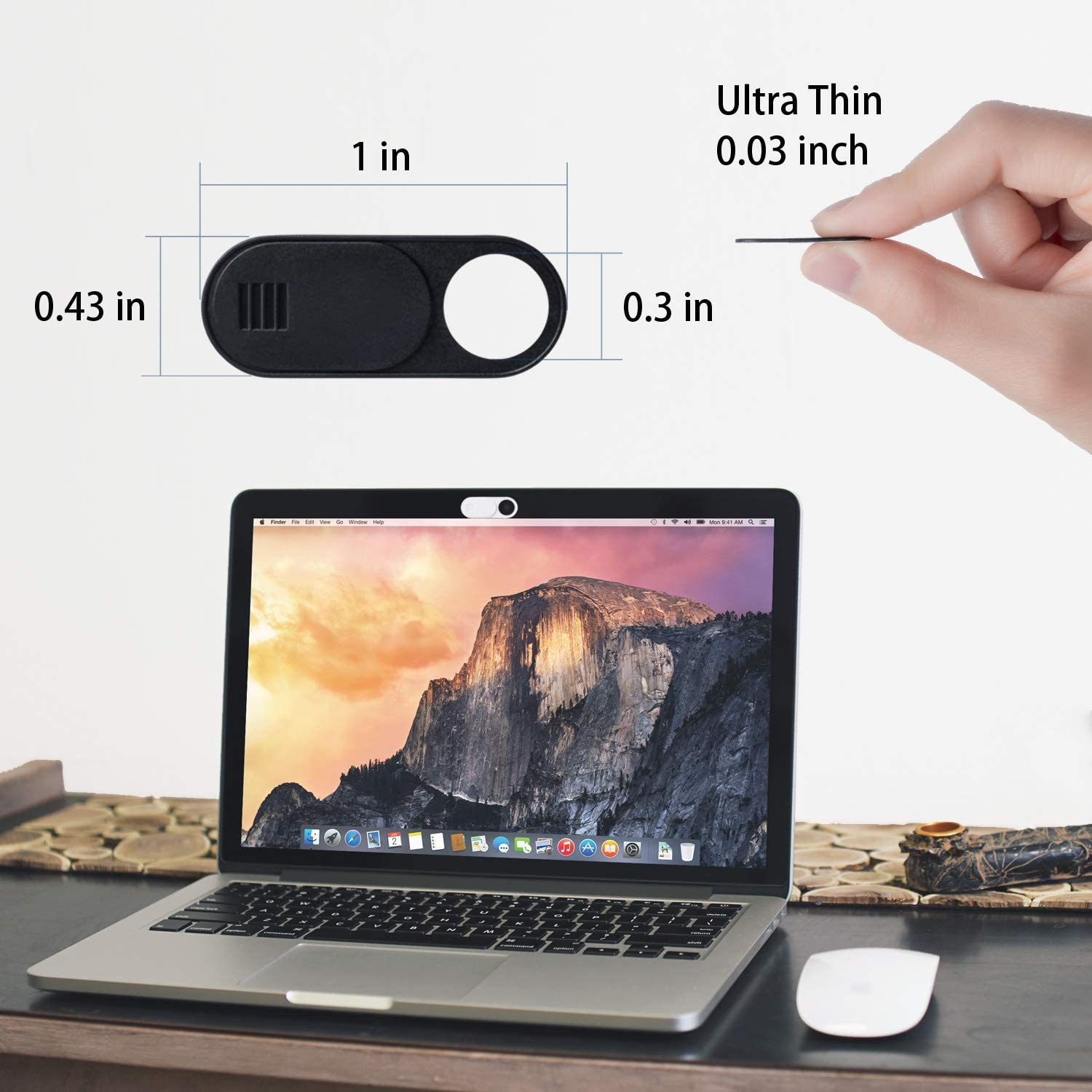 MacBook Black Vetoo Webcam Cover PC Pro Protect Your Privacy Security Digital Sliding Covers iPad iMac Computer 6-Pack Ultra Thin Design Web Camera Cover Slide Compatible Laptop
