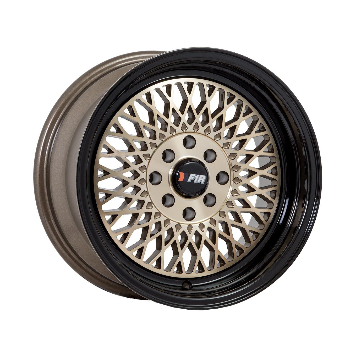 15x8 F1R F01 Bronze w/ Black Lip Rim Offset(0) Lug(4x100/4x114.3) Bore(67.1) 1 Wheel -- F01158BZ0
