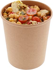 Royal 32 Ounce Kraft Paper Food Containers, Package of 25