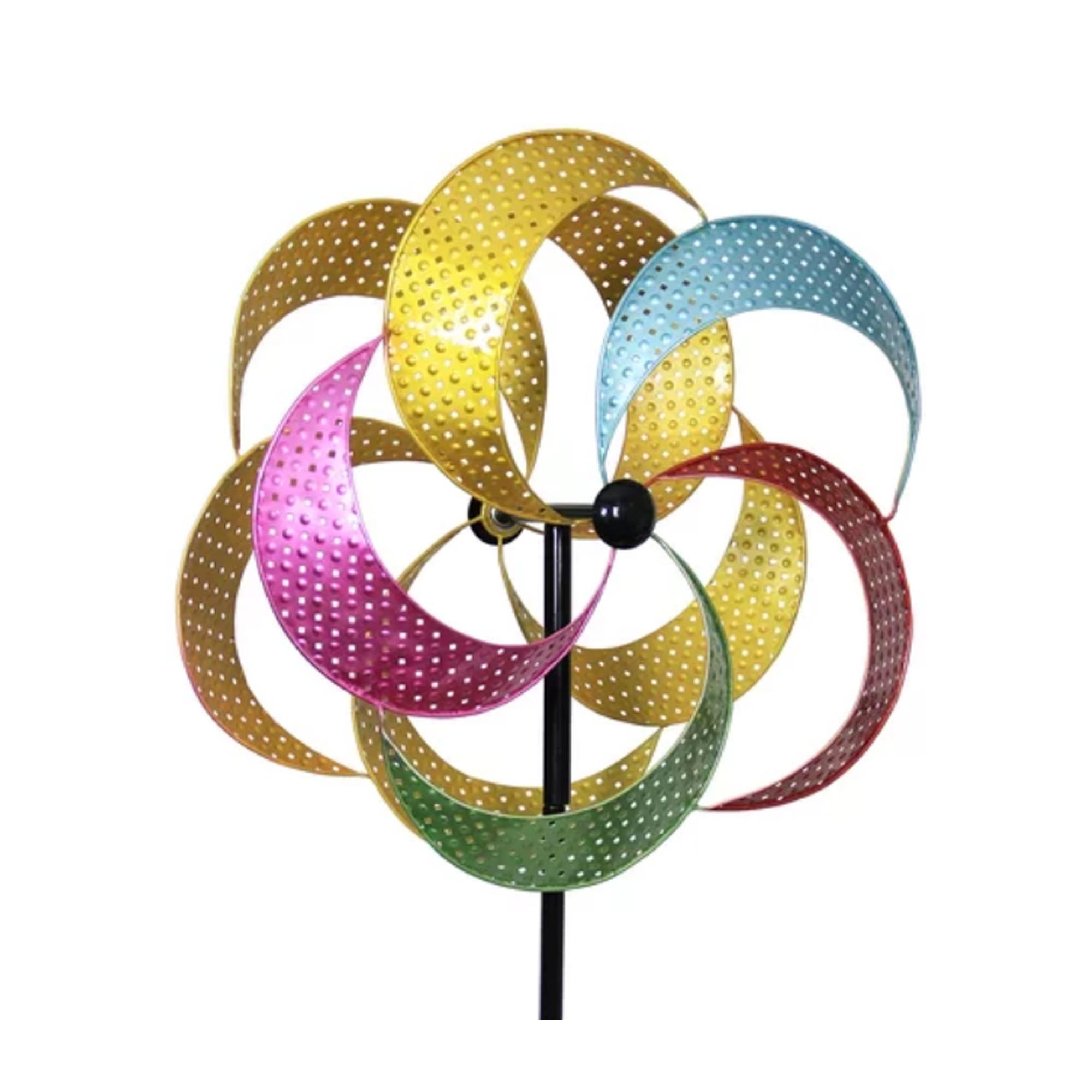 Home & Garden MULTI-COLORED KINETIC PINWHEEL Metal Yard Decor Spinning 12460