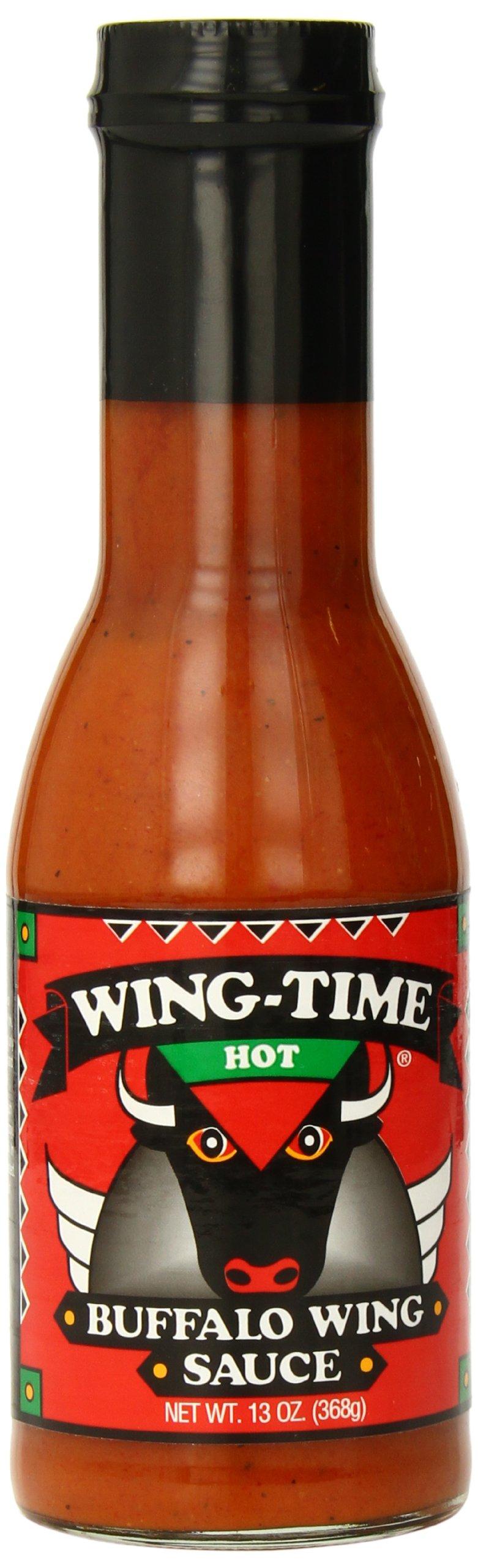 Wing Time Buffalo Wing Sauce, Hot, 13 Ounce