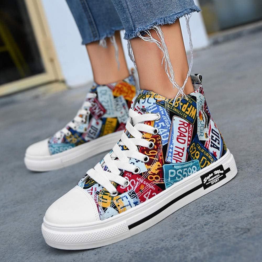 Hip-Hop Women'S Shoes, Hip-Hop, High-Top Shoes, Women'S Shoes, Wild High-Band Sports Shoes 1808 flower black rgoNBZ