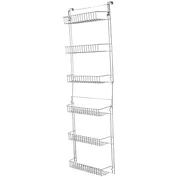 Lavish Home Closet Organizer With 6 Shelves, Over The Door Pantry Organizer  And Bathroom Organizer