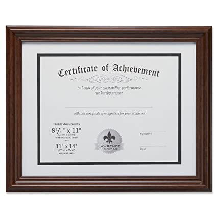 Amazon.com - Lawrence Frames Dual Use 11 by 14-Inch Certificate ...
