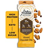 Atlas Bar - Keto Protein Bars, Almond Chocolate Chip - High Protein, Low Sugar, Low Carb, Grass Fed Whey, Healthy…