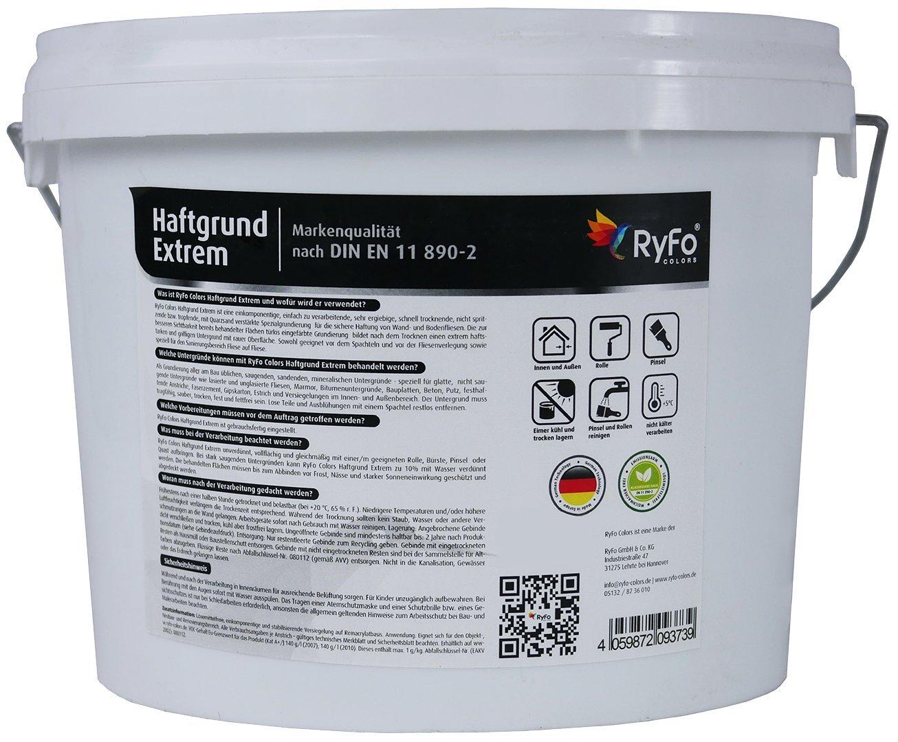 RyFo Colors Haftgrund Extrem Kg Größe Wählbar Fliesen - Haftgrund putz auf fliesen