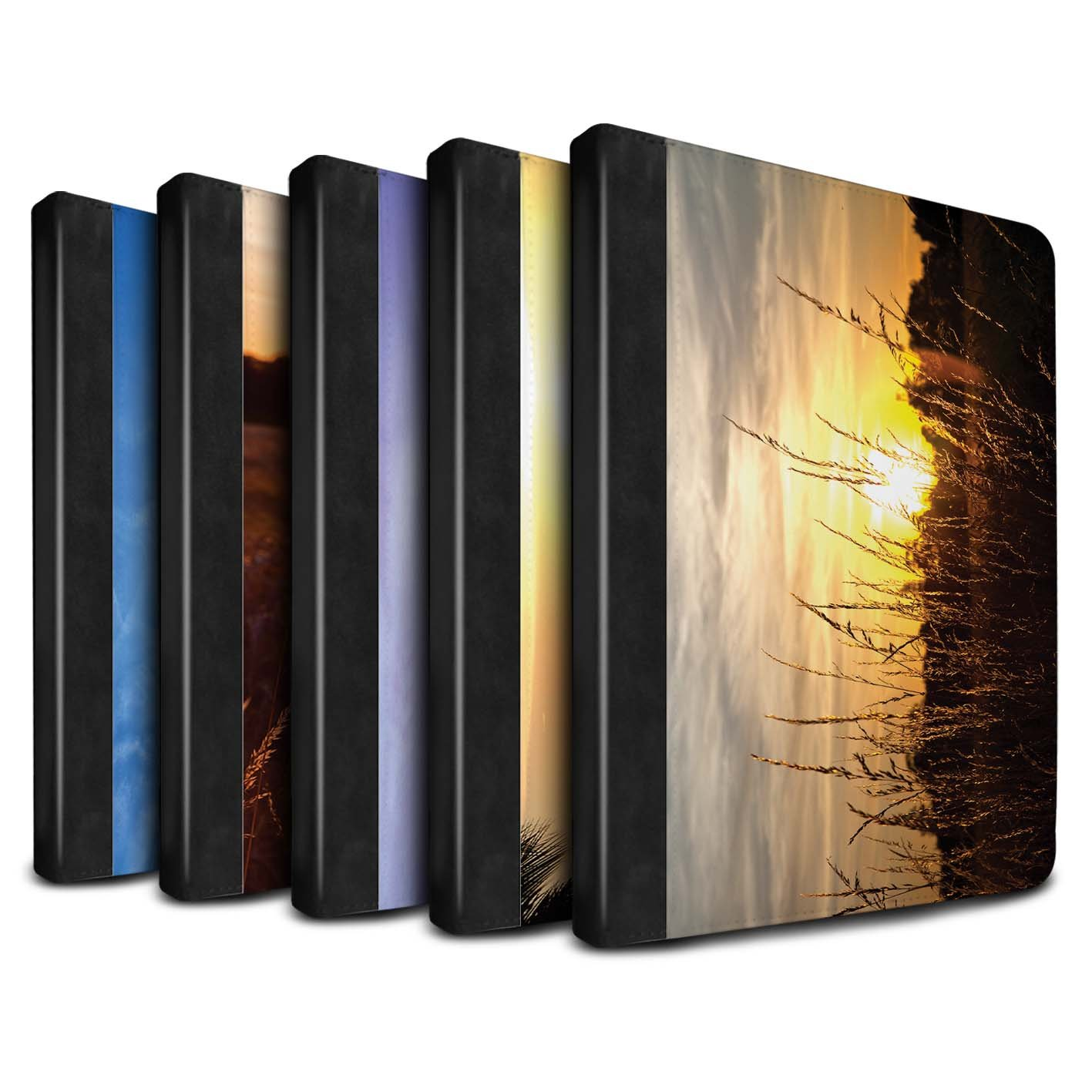 STUFF4 PU Leather Book/Cover Case for Apple iPad 9.7 (2017) tablets / Multipack (20 Pack) Design / Sunset Scenery Collection