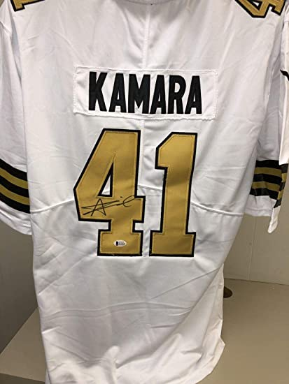 2934d3eb Signed Alvin Kamara Jersey - Bas Beckett Color Rush 3 - Beckett  Authentication - Autographed NFL