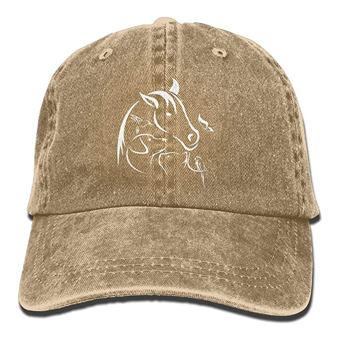 c5d34e6a4fb Image Unavailable. Image not available for. Color  Baseball Jeans Cap Horse  Dog Cat Bird Butterfly Women ...