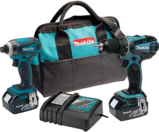 Makita 18-Volt LXT Cordless 2-Piece Combo Kit Driver-Drill And Impact Driver