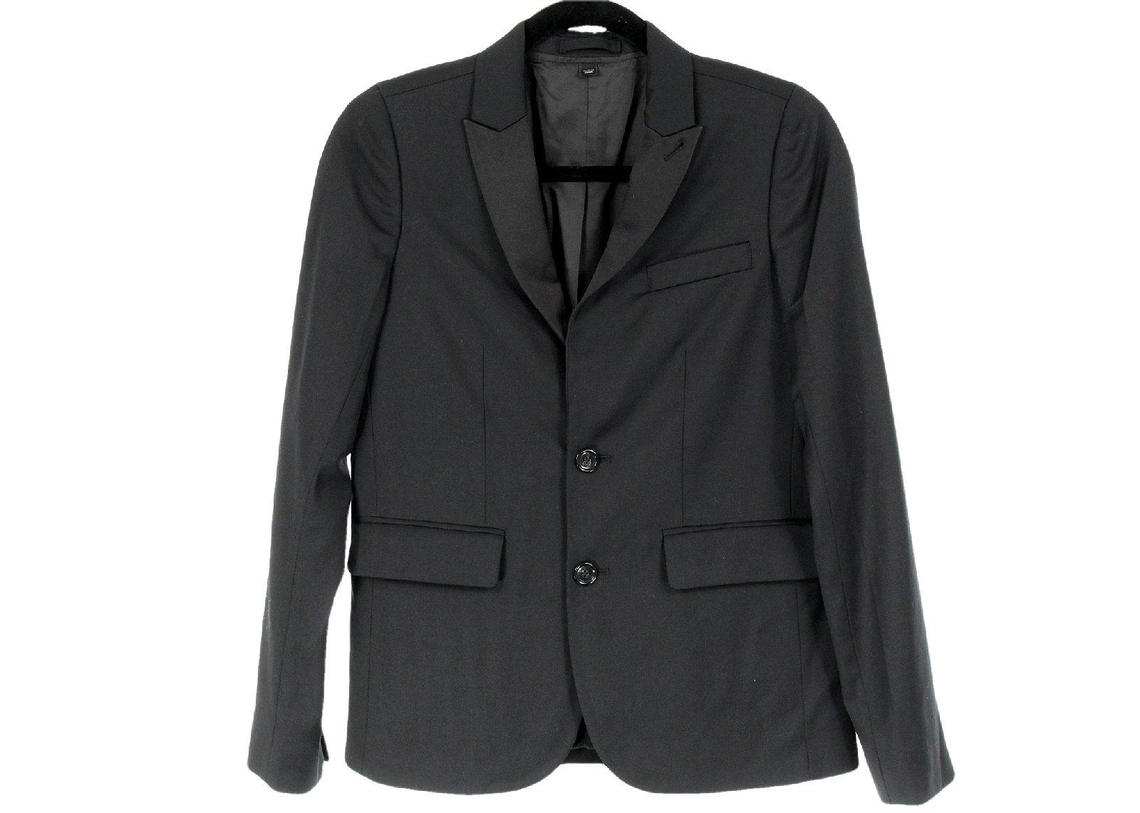 Crewcuts Ludlow Peak-Lapel Tuxedo Jacket Italian Wool 14 34245 Black by J.Crew