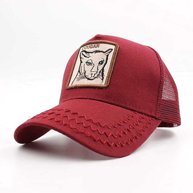 Amazon.com: Summer Mesh Baseball Caps Men Fashion Animals Embroidery Trucker Cap Bone Women Hats Unisex Hip Hop Gorras Cap: Clothing