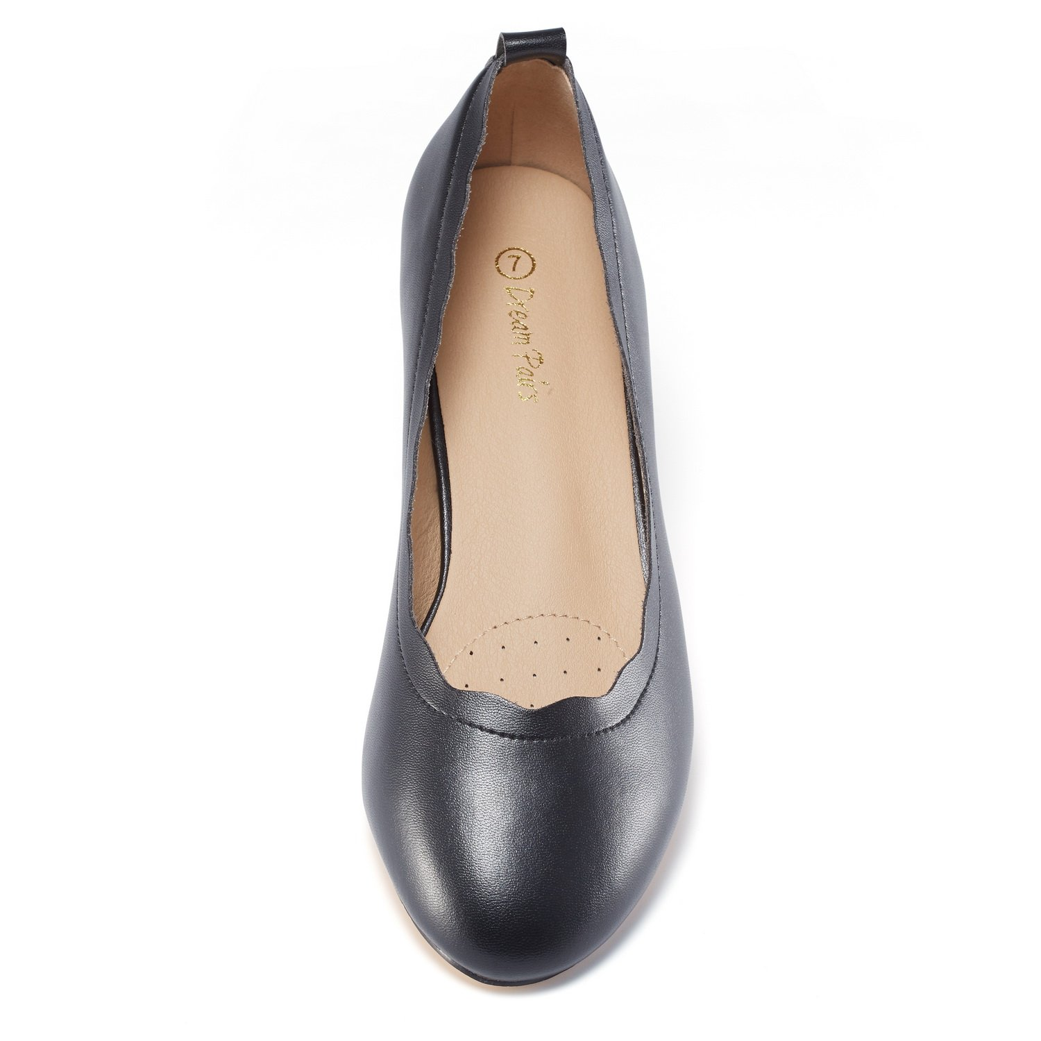 DREAM PAIRS Women's Sole_Elle Black/PU Fashion Low Stacked Slip On Flats Shoes Size 8.5 M US by DREAM PAIRS (Image #3)