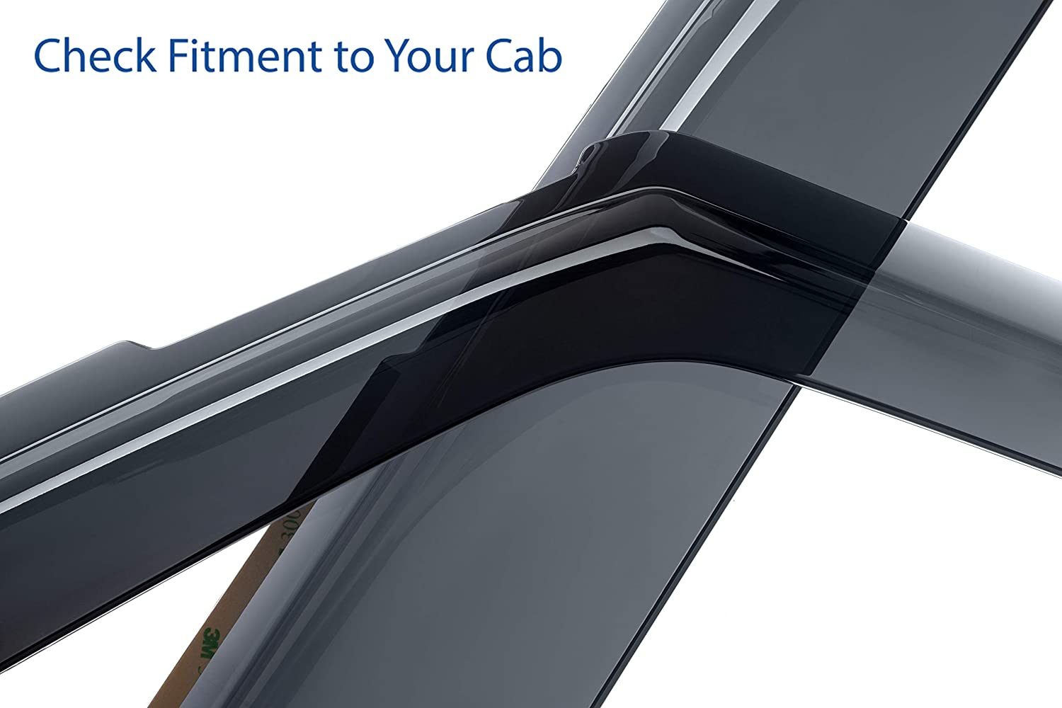 Goodyear Shatterproof Side Window Deflectors for Trucks Ford F-150 2015-2019 SuperCab GY003113 Tape-on Rain Guards Vent Window Visors 4 Pieces