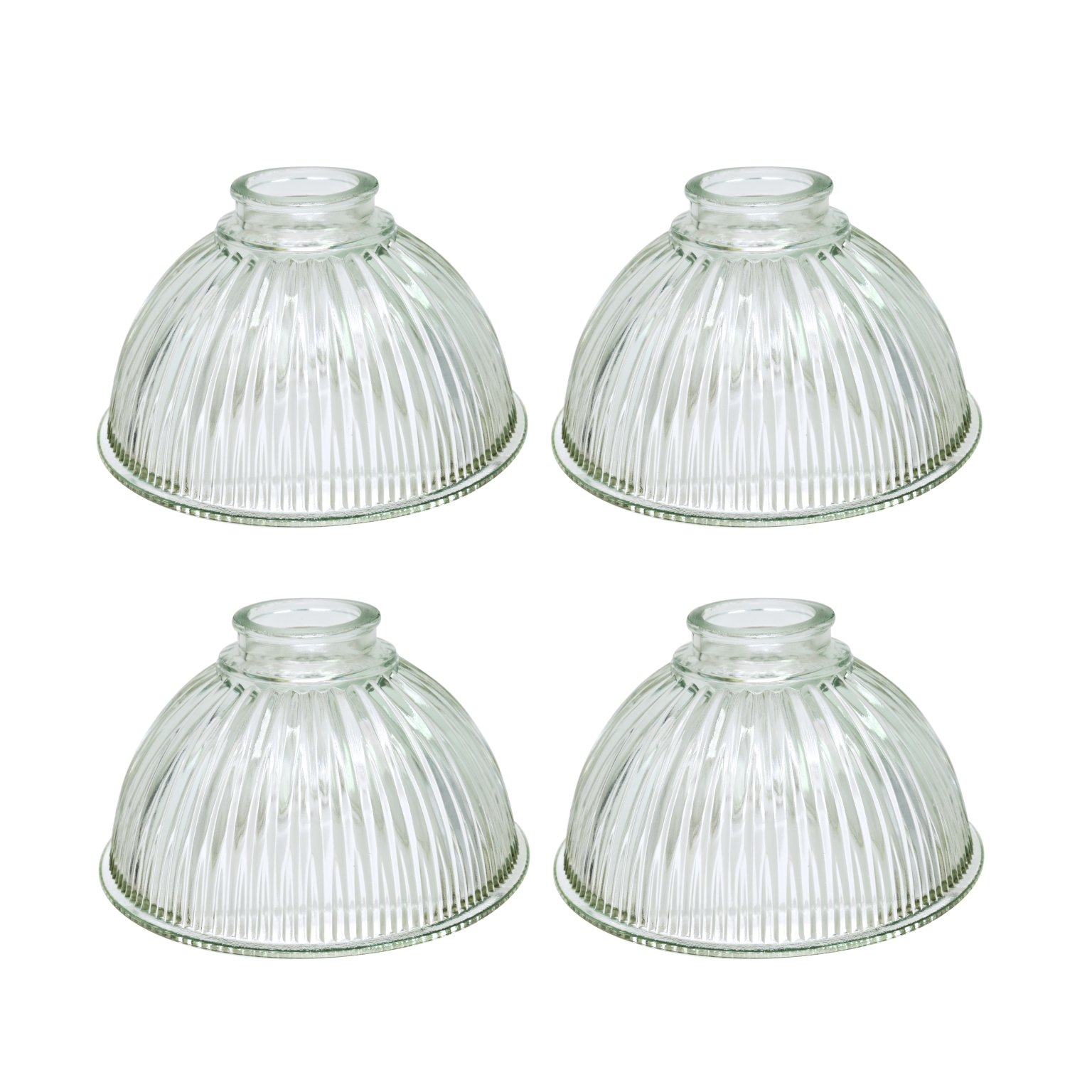 Aspen Creative 23019-4 Transitional Style Replacement Bell Shaped Clear Pebbled Glass Shade, 2 1/8'' Fitter Size, 4 3/4'' High x 4'' Diameter (4 Pack)