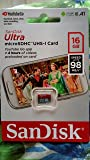 SanDisk Ultra Class 10 UHS-I 16 GB Micro SD Memory Card (SDSQUNC-016G-GN3MN)