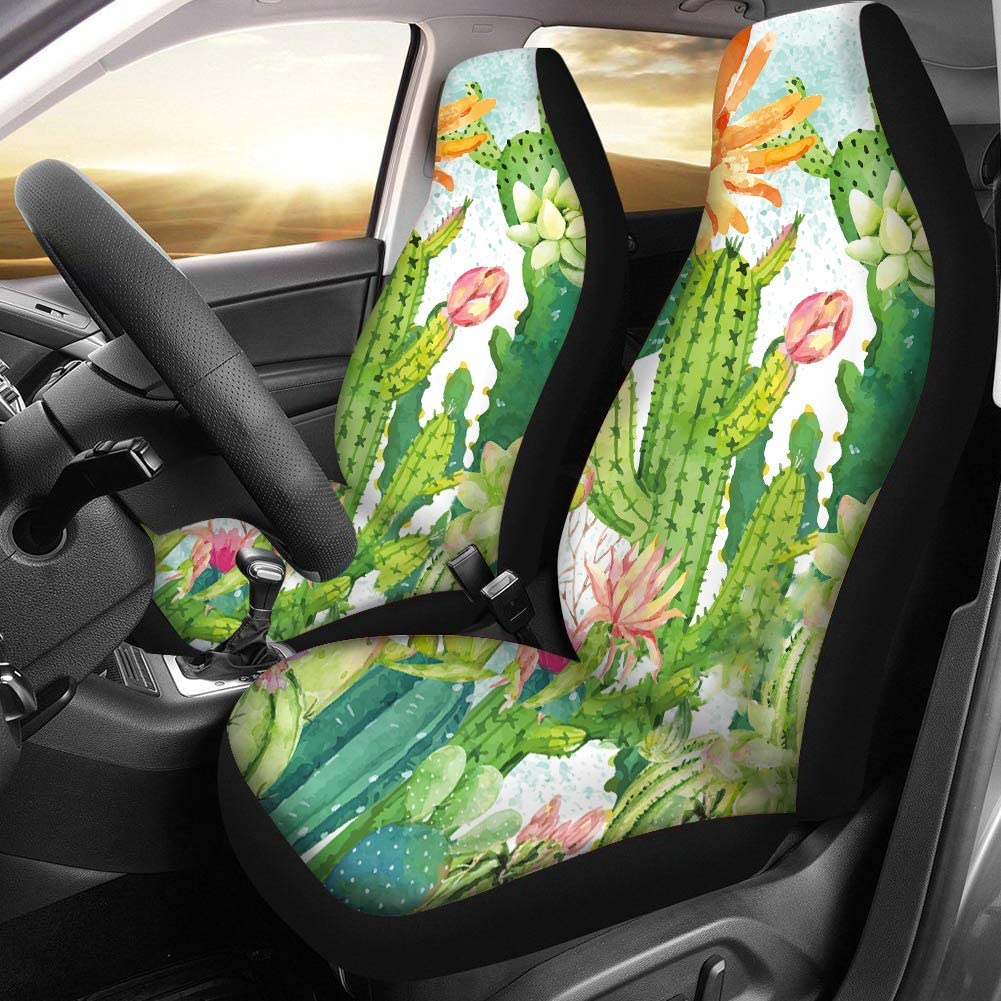 FUIBNEG Stylish Sunflowers Design Car Seat Cover Front Seats Only Full Set of 2 Seat Protector for Cars Truck SUV