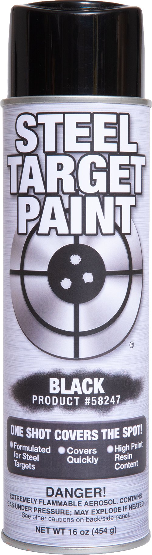 Steel Target Paint- 16 oz Aerosol Paint in a Can for Shooting Ranges, Shooting Clubs, Parks and Private Ranges and for Match Competition (Black, 6 Pack)