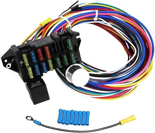 [DIAGRAM_38EU]  Amazon.com: BLACKHORSE-RACING 12 Circuit Wiring Harness XL Wires Universal  for Hot Rods Street Rods: Automotive | 12 Circuit Universal Wiring Harness |  | Amazon.com