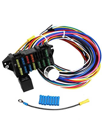amazon com blackhorse racing 12 circuit wiring harness xl wires Painless Wiring Harness