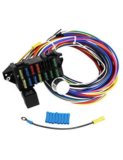 Outstanding Amazon Com Blackhorse Racing 12 Circuit Wiring Harness Xl Wires Wiring Digital Resources Indicompassionincorg