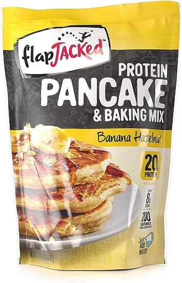 Protein Pancake Mix, Banana Hazelnut, 12oz by FlapJacked