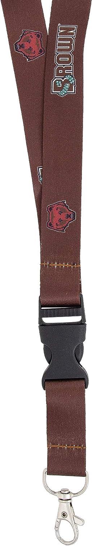 Brown University Bears NCAA Car Keys ID Badge Holder Lanyard Keychain Detachable Breakaway Snap Buckle