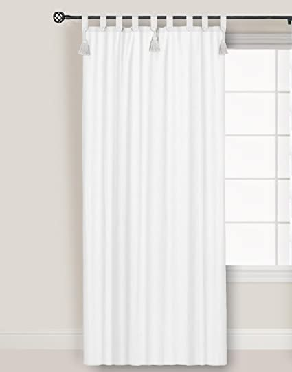 Tenda Blanc Mariclo + Loops e embrasse Colore Bianco 150 x 300 cm ...