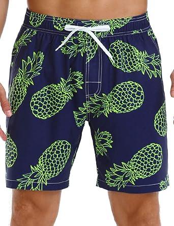 Nonwe Boys Swim Shorts Quick Dry Soft Drawsting Printed Velcro Pocket Pool Swim Trunks