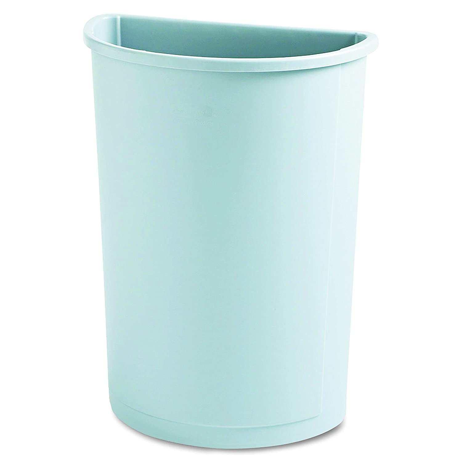 Rubbermaid Commercial 352000GY Untouchable Waste Container, Half-Round, Plastic, 21gal, Gray
