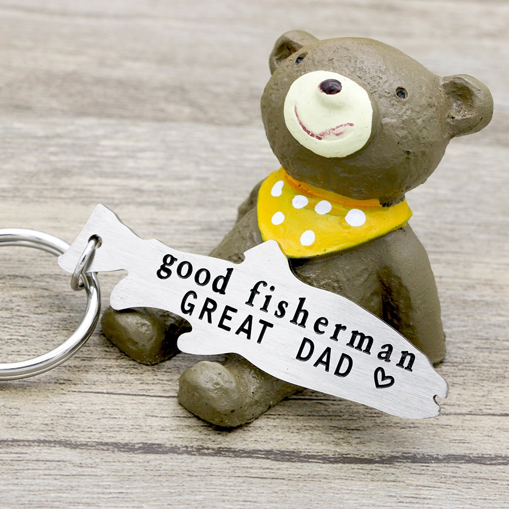 Melix Home Good Fisherman GREAT DAD Key Chain Gift for Dad from daughter son, Fathers Day Gift, Birthday Gift Key Ring Key Buckle … by Melix Home (Image #3)