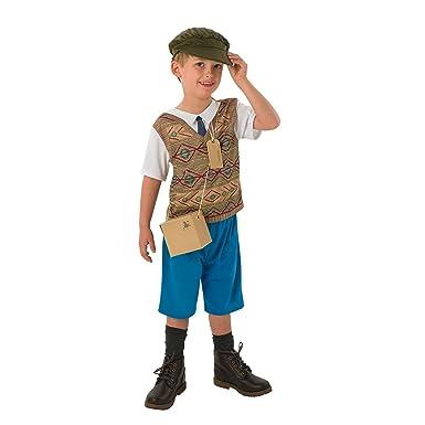 867e0e652642 Childrens Evacuee Costume Rubies Unisex World War 1   2 Boys Girls Fancy  Dress Outfit  Amazon.co.uk  Clothing