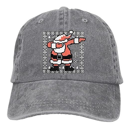 Unisex Dabbing Santa Claus Ugly Christmas Jeanet Baseball Cap Adjustable  Topee For Men Or Women 2dc8cf549585