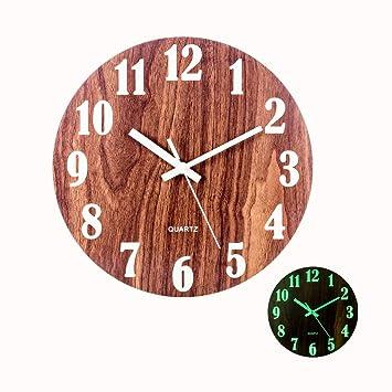 Mecotech 30cm Reloj Luminoso Pared Reloj Pared Silencioso Luminoso Reloj de Pared para Decoración de Cocina, Casa, Oficina, Dormitorio: Amazon.es: Hogar