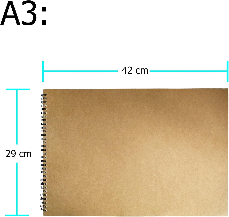 Eachgoo Art Spirale Bound Carnet De Croquis A3 Couverture Rigide Carnet Dessin
