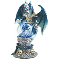 Gifts & Decor Color Change Dragon Armored Skulls Figurine Sculpture