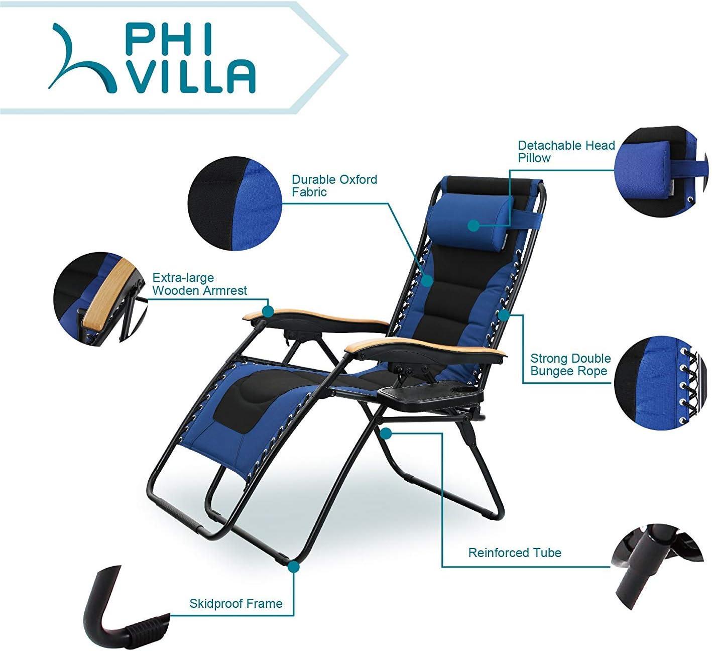 PHI VILLA oversized XL Zero Gravity Lounge Chair