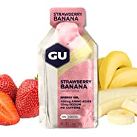 GU Energy Original Sports Nutrition Energy Gel, Strawberry Banana, 8 Count Box