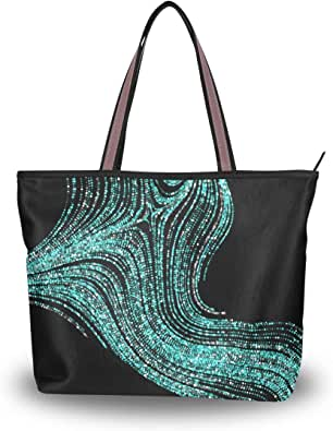 Amazon.com: Shoulder Bag Abstract Swirl Lines Large