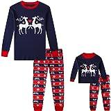 Babyroom Girls Matching Doll&Toddler 4 Piece Long Cotton Christmas Pajamas Kids PJS