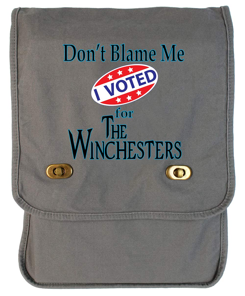 Tenacitee Voted for The Winchesters Khaki Green Raw Edge Canvas Messenger Bag