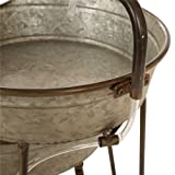 Glitzhome Metal Tiered Water Fountain with