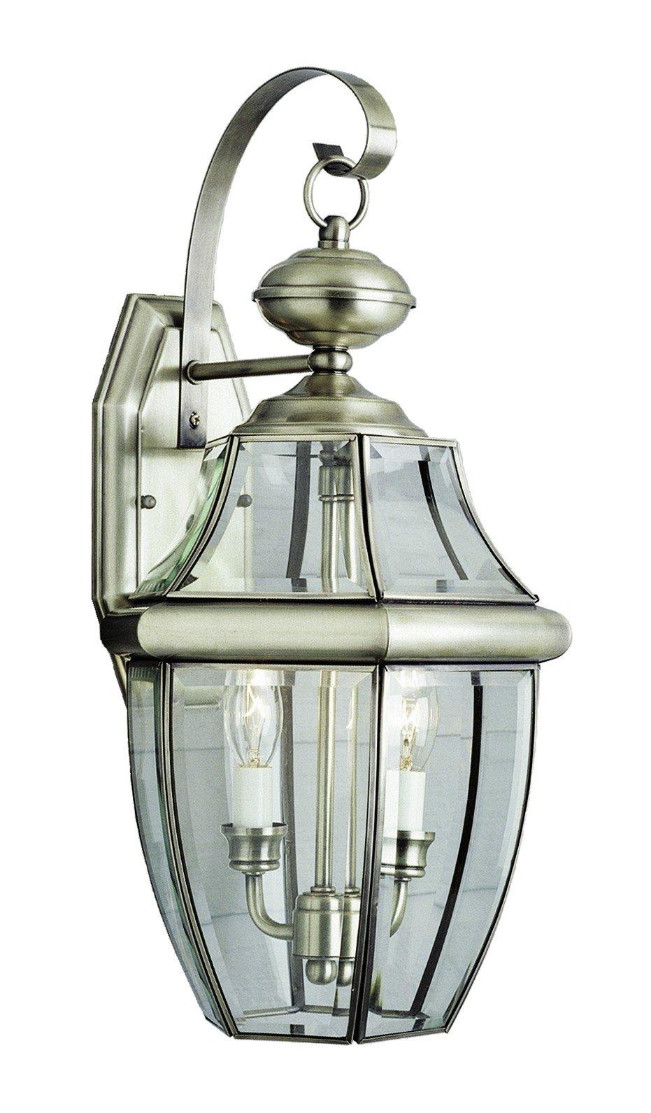 Trans Globe Lighting 4320 BN Outdoor Courtyard 20.5'' Wall Lantern, Brushed Nickel