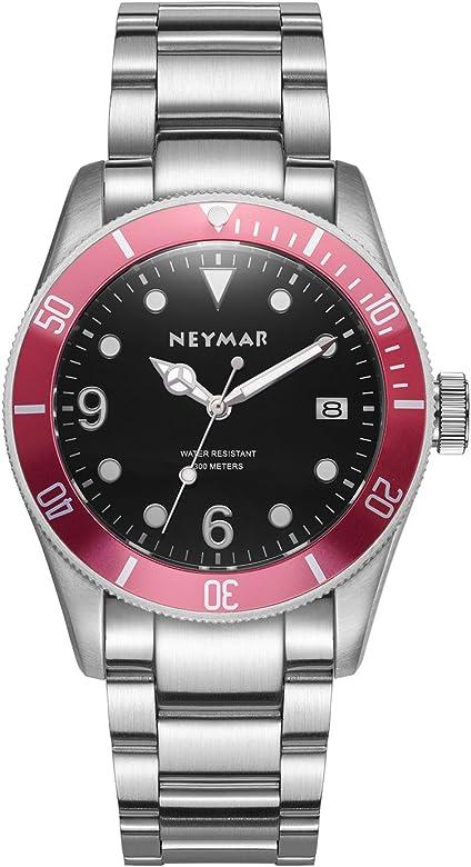 Neymar 41.5mm Men's Automatic Watch 300m Stainless Steel Watch