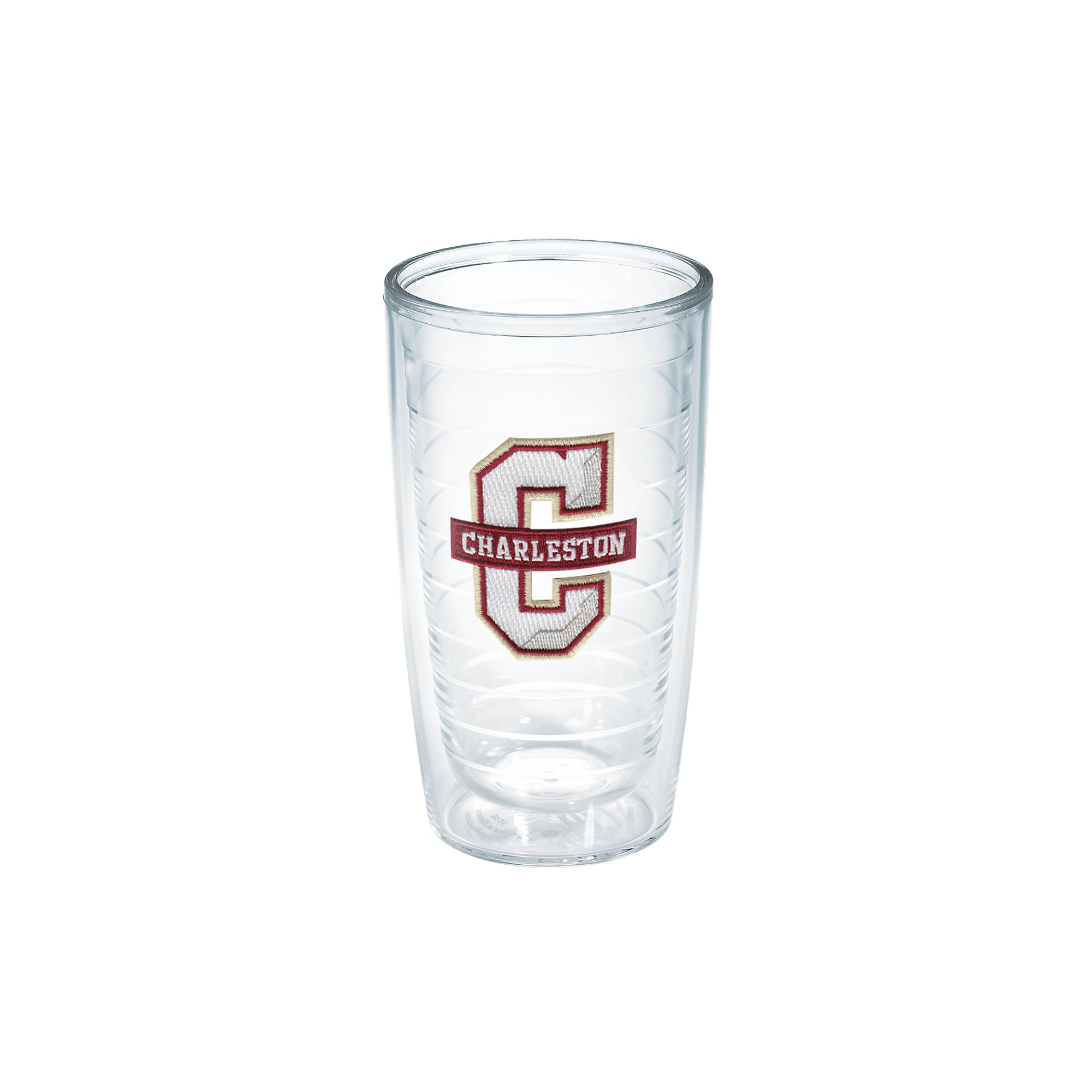 Tervis 1133370 Charleston College Emblem Individual Tumbler, 16 oz, Clear