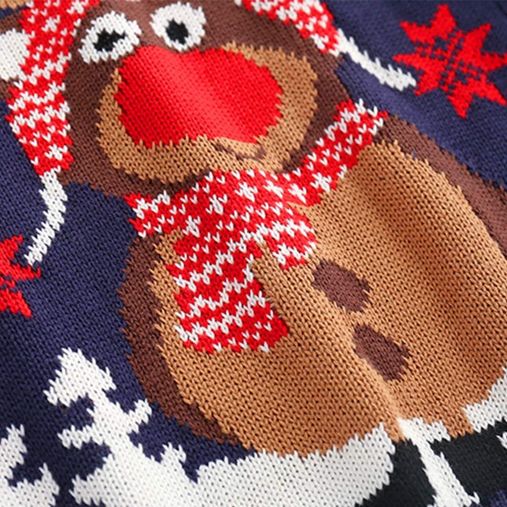Vinnytido Baby Boys Girls Christmas Reindeer Pullover Knitted Sweater