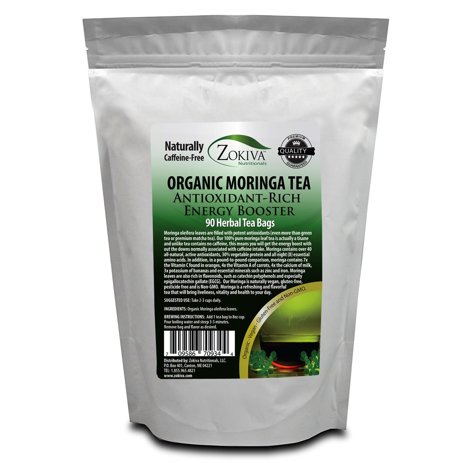 Moringa Tea Organic 90 Bags 100% Pure, All-natural