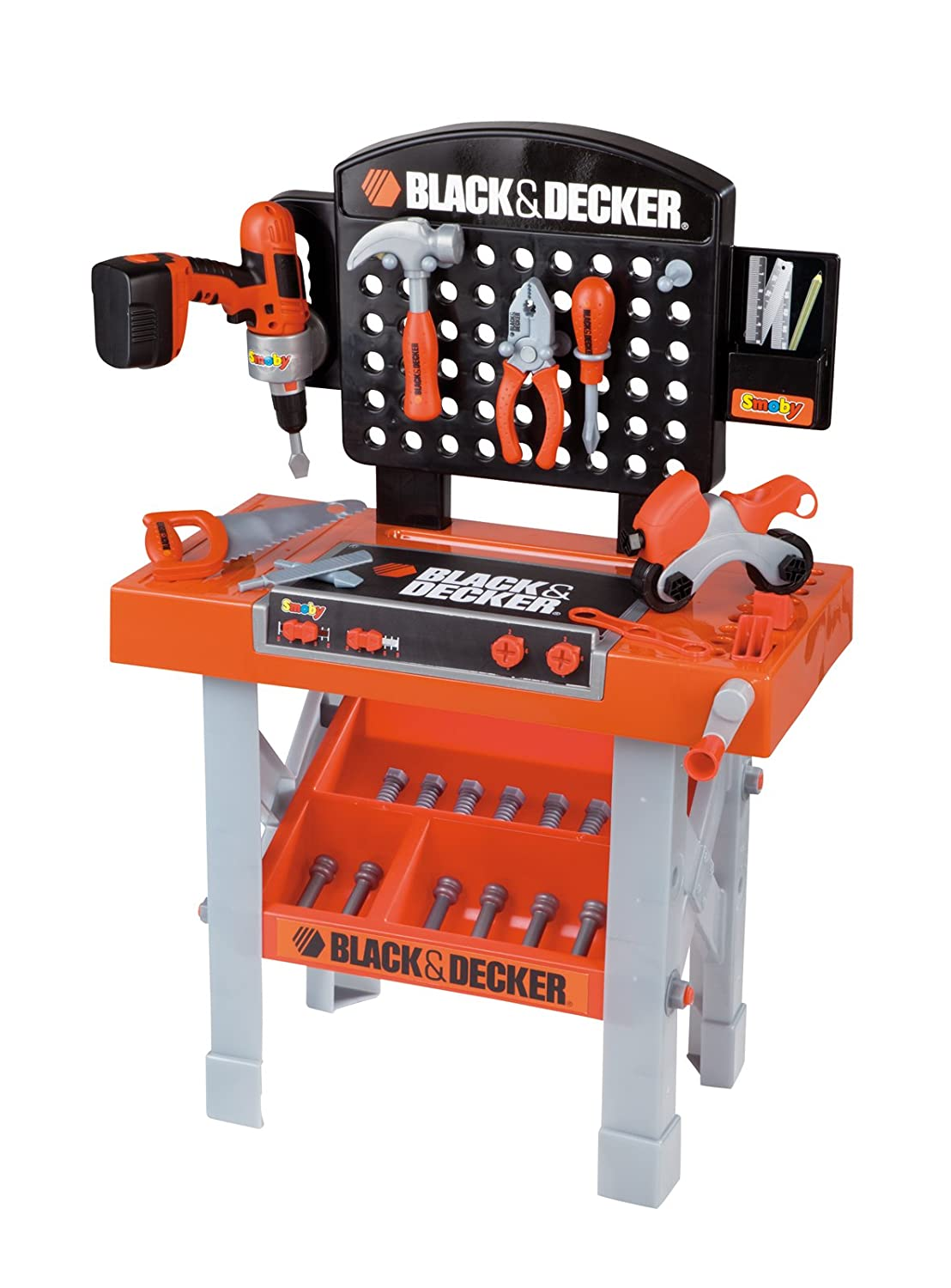 Black und Decker Kinderwerkbank - Smoby 500205 Black + Decker Super Werkbank