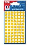 APLI Sachet de 462 étiquettes Gommettes de signalisation Rondes 8 mm Jaune